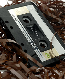 Chewed Up Cassette Tapes